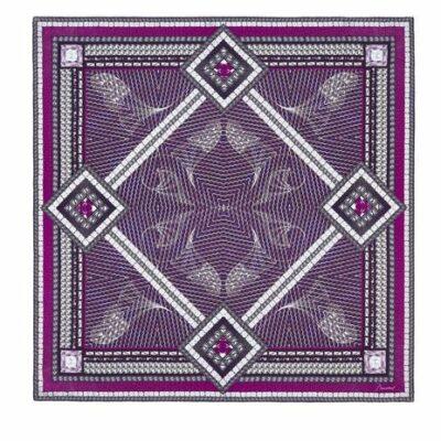 foulard-carre-baccarat-violet