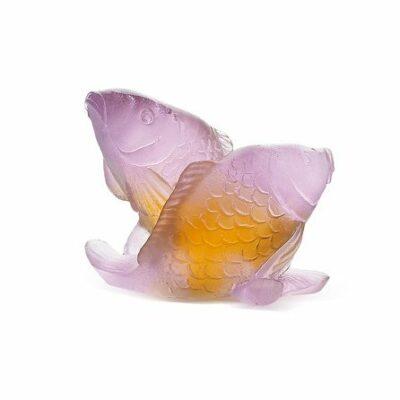 couple+de+carpes+PM+ambre+rose+daum
