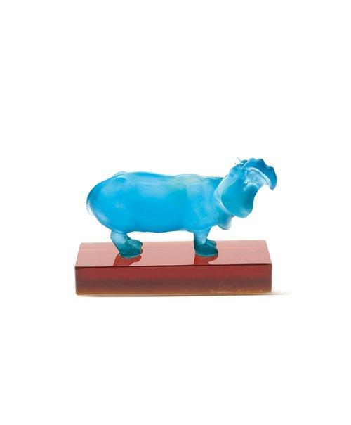 hippopotame+turquoise+daum