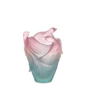 vase-rose-vert-oiseau-daum