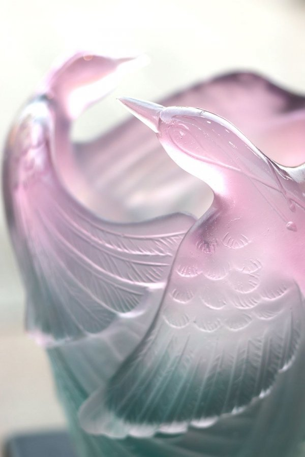 Vase oiseau daum
