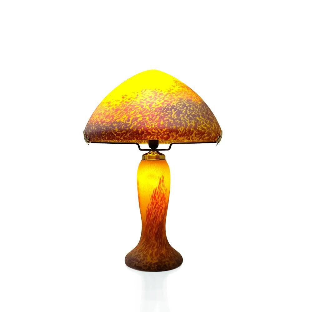 lampe grand mod le p te de verre jaune. Black Bedroom Furniture Sets. Home Design Ideas