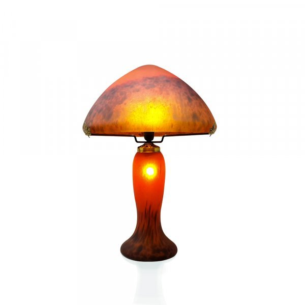 Lampe-pate-de-verre-gm-rouge