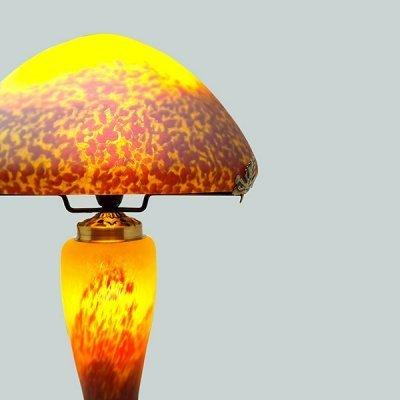 Lampe-pate-de-verre-jaune-zoom