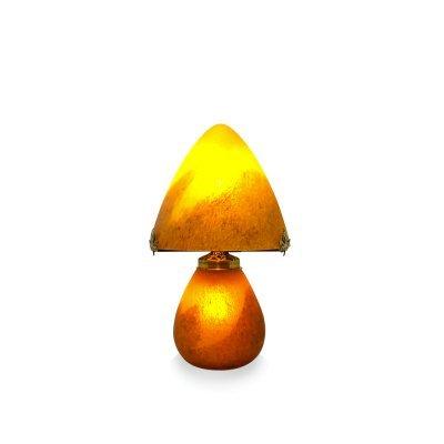 Lampe-pate-de-verre-orange