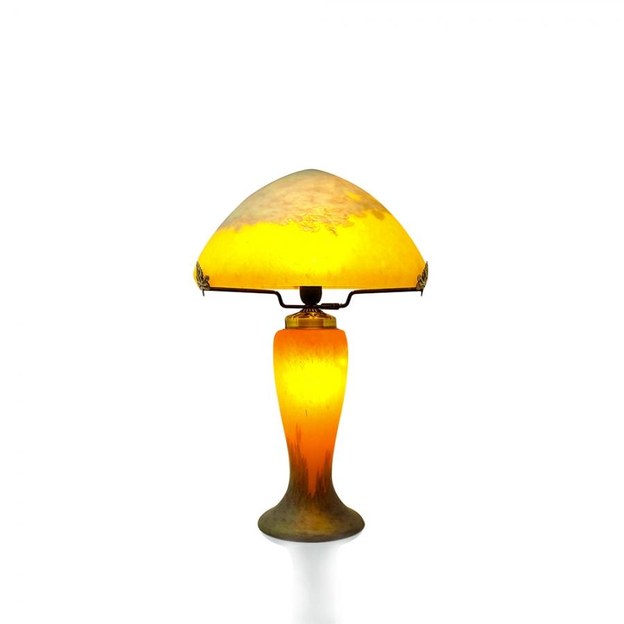 Lampe champignon p te de verre retro vessiere cristaux - Lampe pate de verre ...