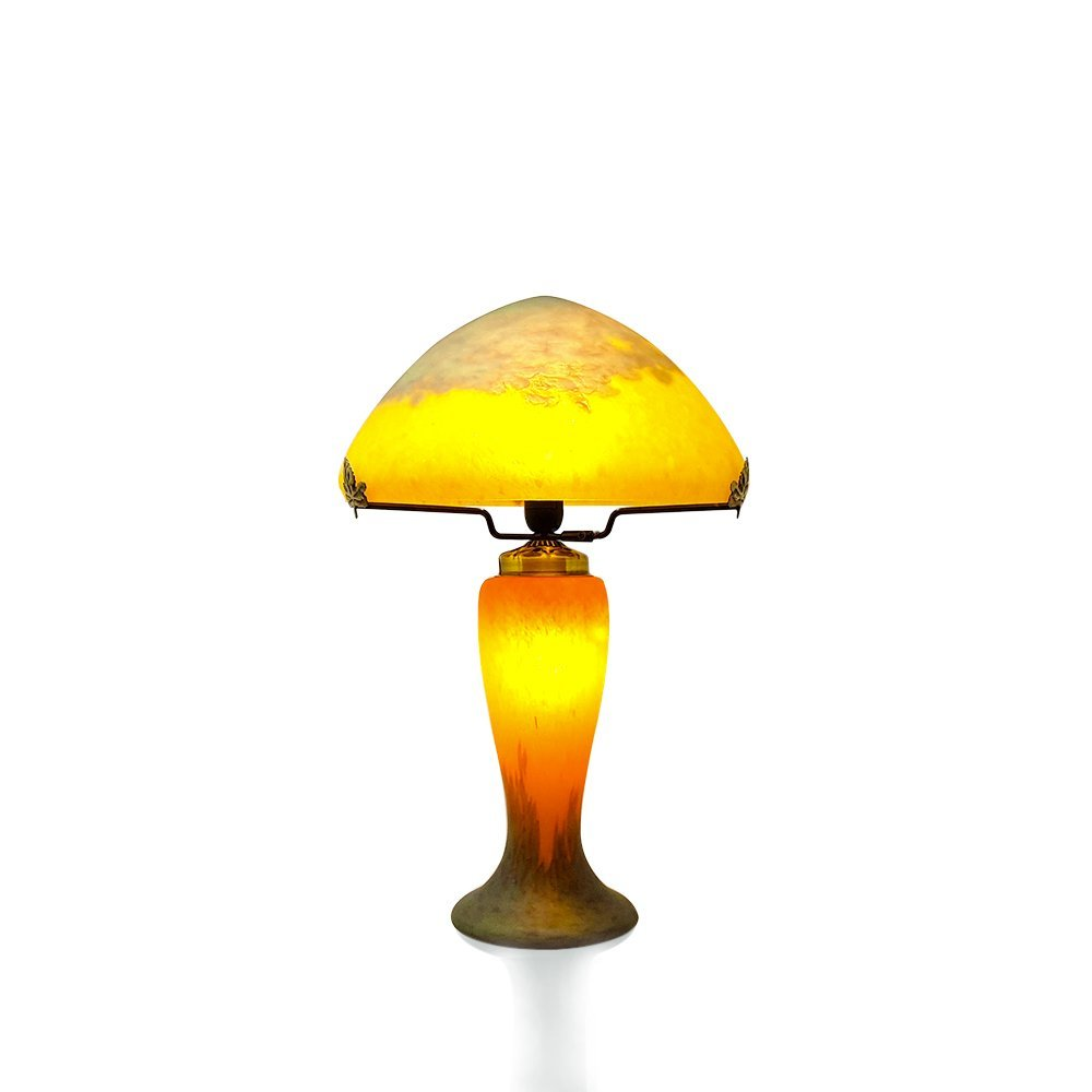 lampe champignon p te de verre retro vessiere cristaux. Black Bedroom Furniture Sets. Home Design Ideas