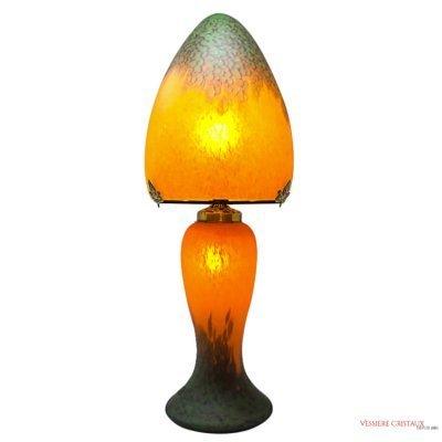 Lampe-pate-verre-orange