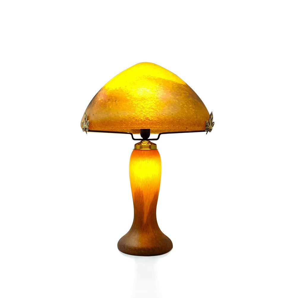 Lampe-pate-verre-orange-gm