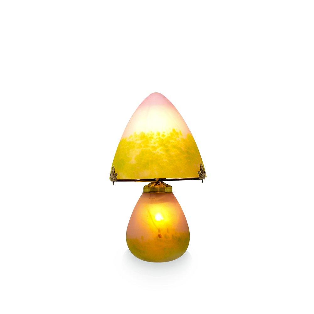Petite-lampe-champignon-vert-rose