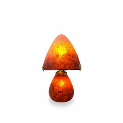 Petite-lampe-pate-de-verre-rouge