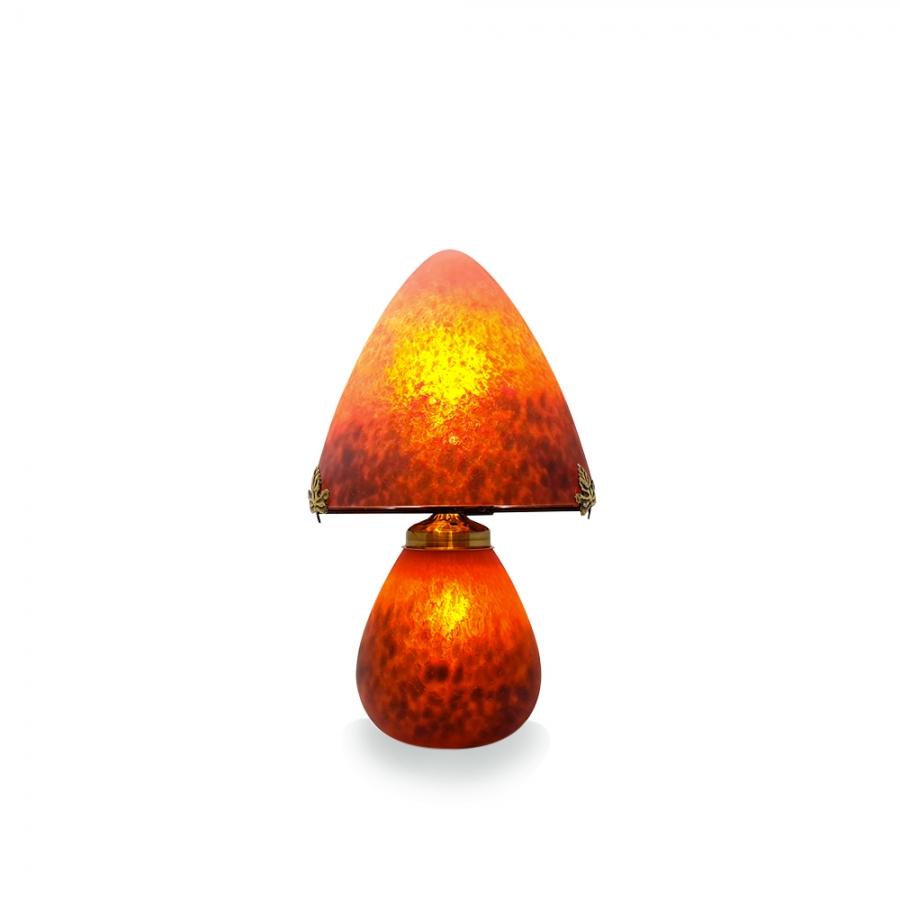 Lampe Champignon Rouge Pate De Verre