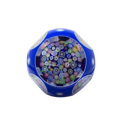 Presse-papier-cristal-Millefiori-2