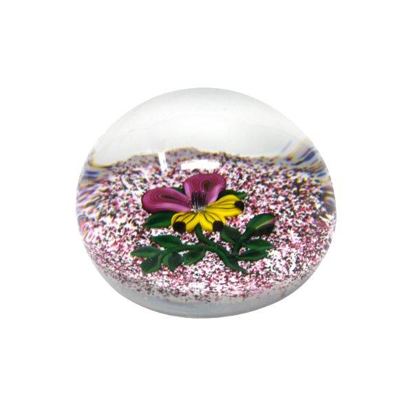 Presse-papier-cristal-fleur-Gicquel-Baccarat