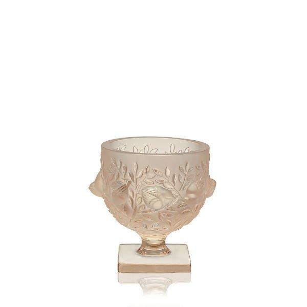 Gold Luster Elisabeth Vase Lalique Vessiere Cristaux