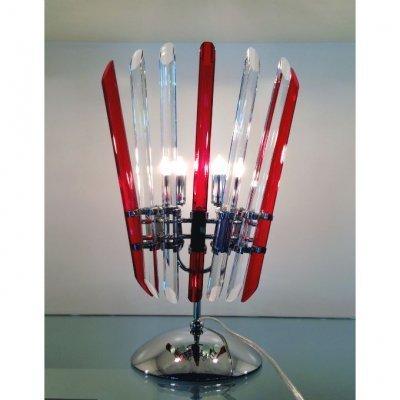 lampe-cristal-tube-rouge-blanc