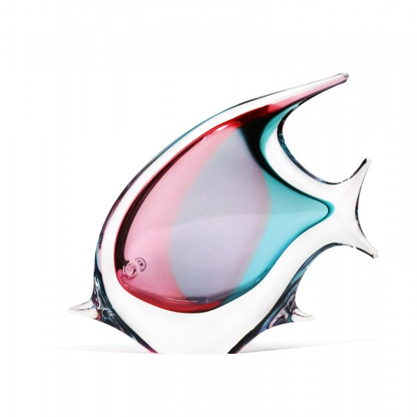 Sculpture-poisson-cristal-rose-turquoise