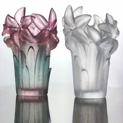 vase amaryllis en cristal Daum France