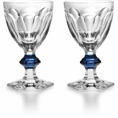 Verre-Harcourt-Bouton-Bleu-Baccarat