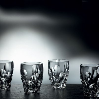 SET 4 VERRES À WHISKY SPHERE