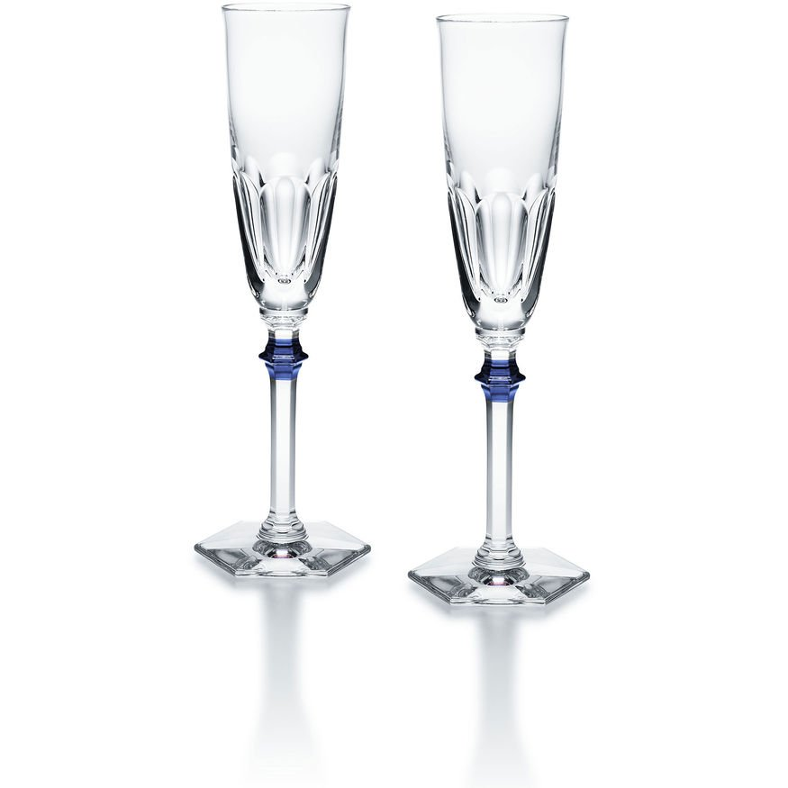 eve harcourt blue champagne flute x2 baccarat vessiere. Black Bedroom Furniture Sets. Home Design Ideas