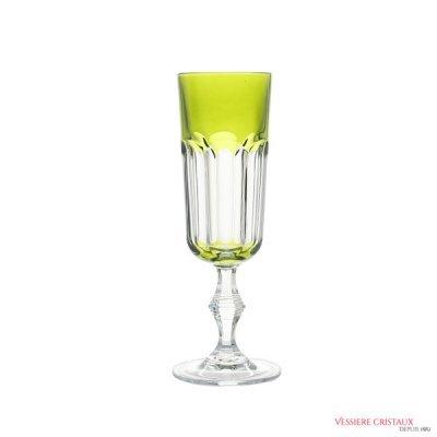 Flute-champagne-cristal-de-paris-vert