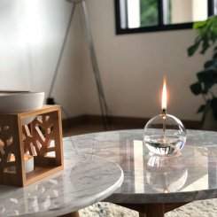 Lampe-huile-verre-deco