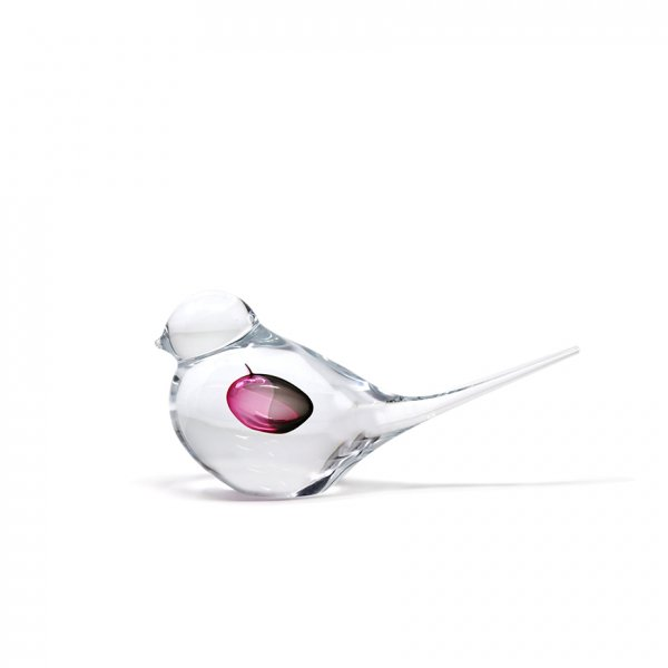 Sculpture-oiseau-cristal-clair-rose