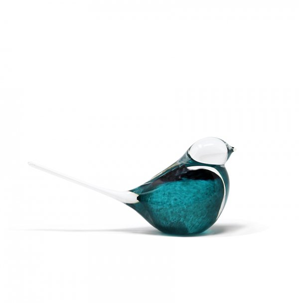 Sculpture-oiseau-moineau-cristal-bleu