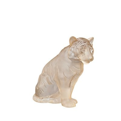 Tigre-assis-lustre-or-Lalique