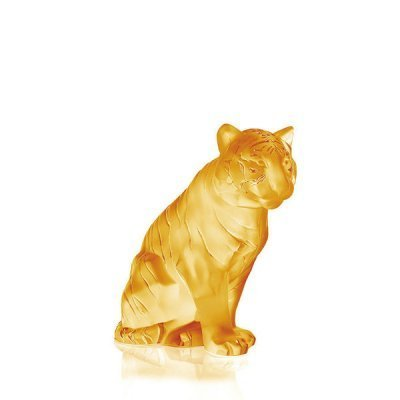 Tigre-assis-lustre-or-Lalique
