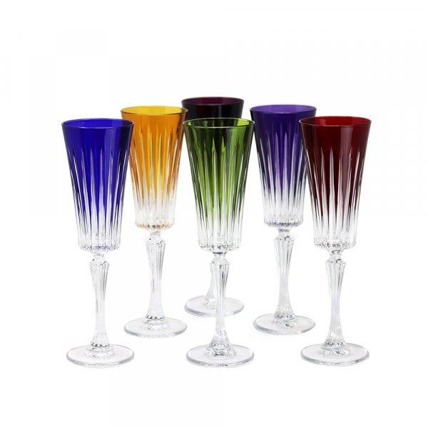 Flute champagne cristal de paris couleur timeless min