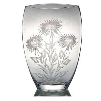 Vase-cristal-taille-main-fleur