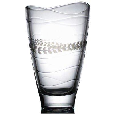 Vase-cristal-taille-vague