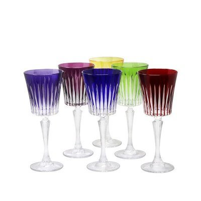 verre a vin en cristal de couleur service timeless