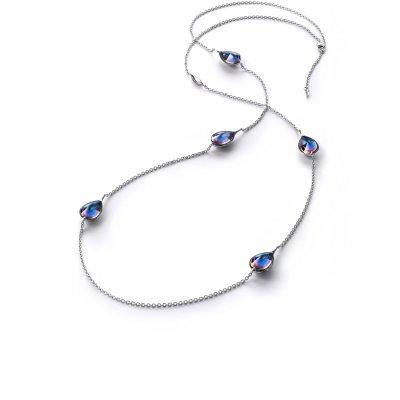 Sautoir-scrarabee-bleu-Psydelic-Baccarat