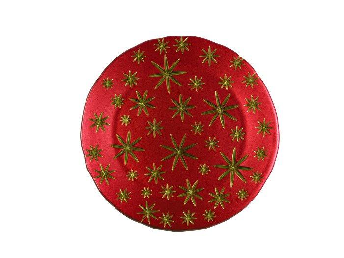 Assiette-cristal-rouge-stars-Nachtmann