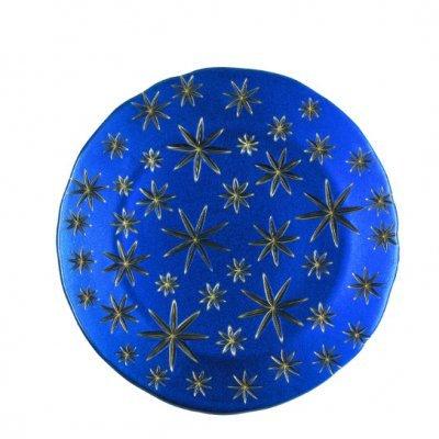 Assiette-plat-cristal-bleu