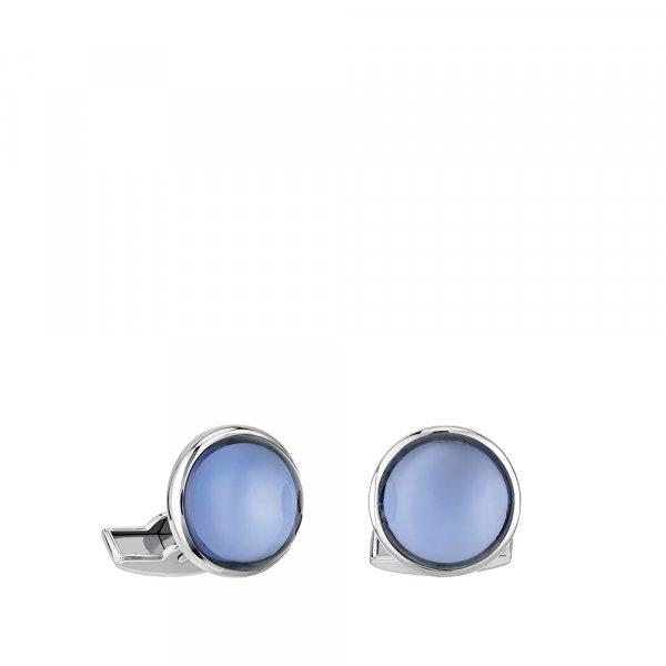 Blue cabochon cufflinks Lalique