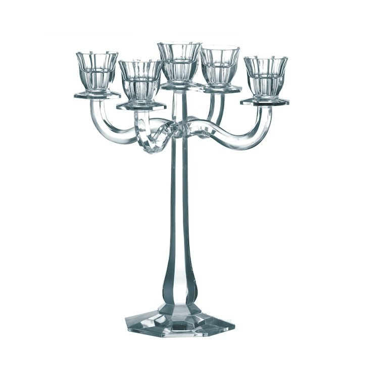 chandelier cristal clair 5 branches vessiere cristaux. Black Bedroom Furniture Sets. Home Design Ideas