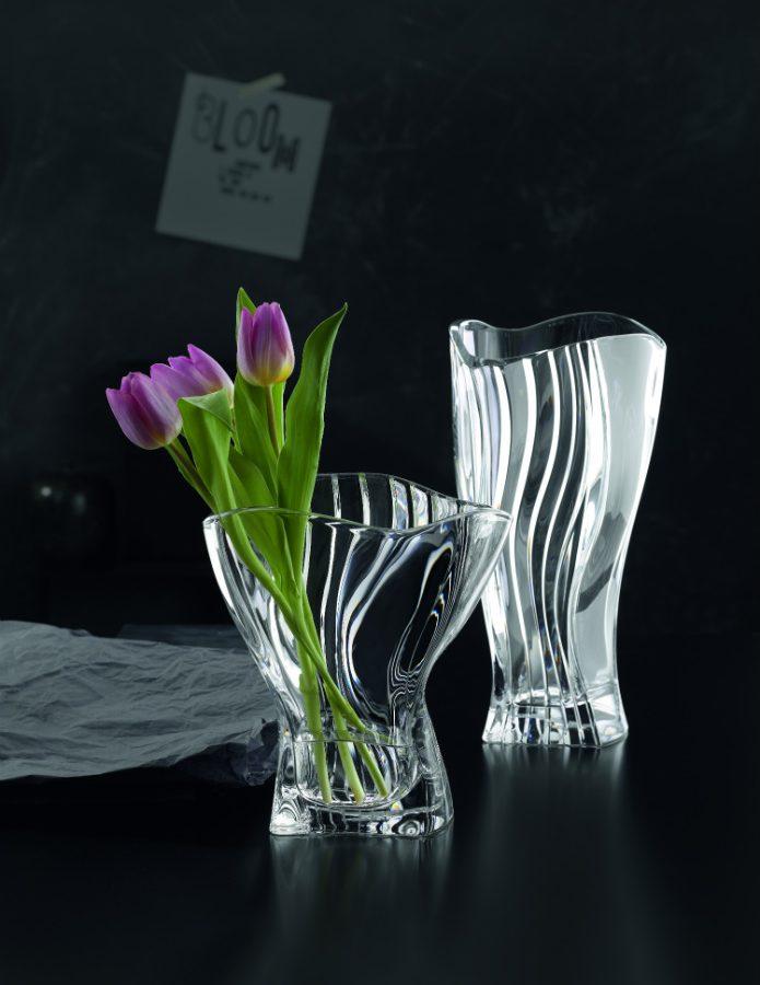 Crystal Curve Vase Vessiere Cristaux