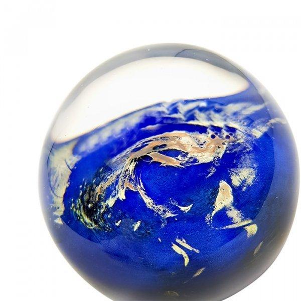 Presse papier cristal planete verre