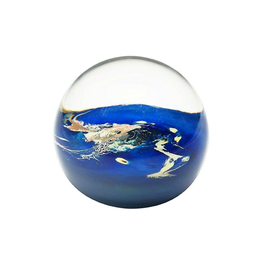 Presse-papier-planete-terre-verre