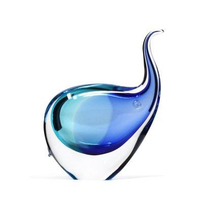 Sculpture-elephant-cristal-bleu