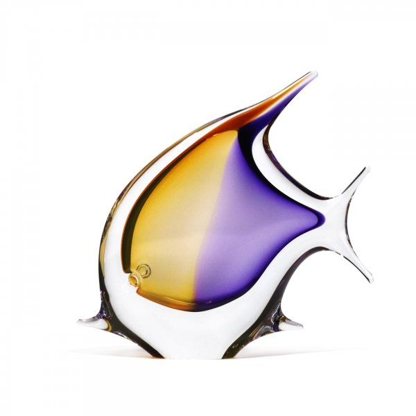 Sculpture-poisson-cristal-jaune-violet