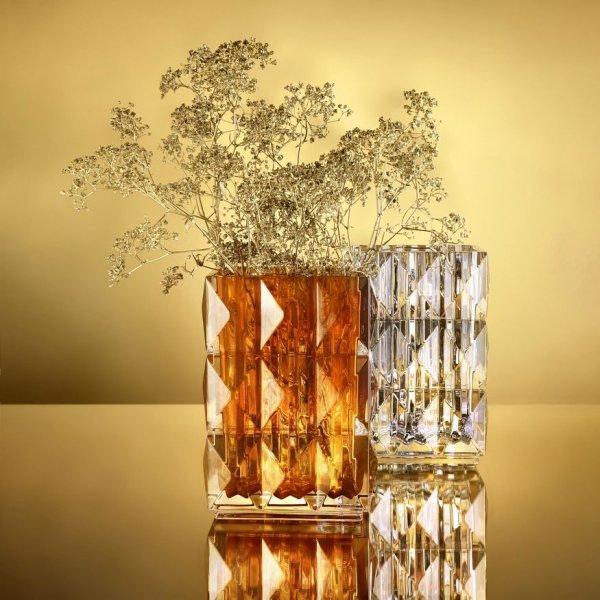 Vase louxor ambre Baccarat