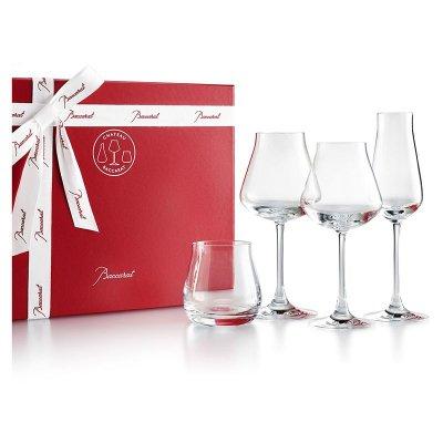 coffret de quatre verre dégustation en cristal chateau baccarat