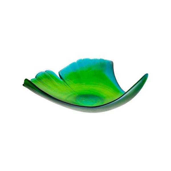 Feuille-vert-pate-cristal-ginkgo-Daum