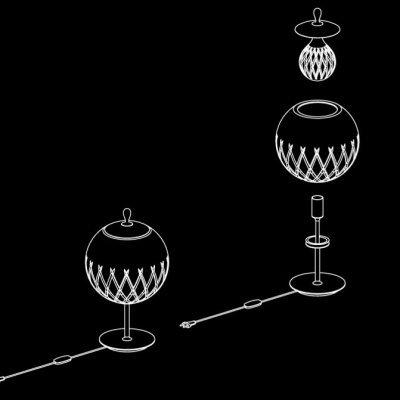 Lampadaire-sfera-rond-Baccarat