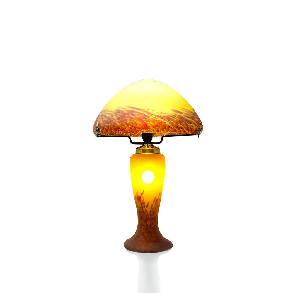 lampe champignon p te de verre vessiere cristaux. Black Bedroom Furniture Sets. Home Design Ideas